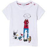 Little Marc Jacobs White Mr Marc and Friends Tee
