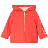 Billybandit Bright Orange Front Zip Hooded Raincoat