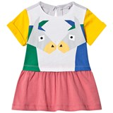 Stella McCartney Kids Colour Block Kissing Donkeys Print Dress