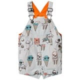 Stella McCartney Kids Grey Ice Cream Print Chester Dungarees