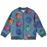 Stella McCartney Kids Blue Sequin Shell and Sequin Bomber Abbot Jacket