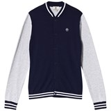 Timberland Kids Navy and Grey Knit Varsity Cardigan
