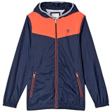 Timberland Kids Navy and Orange Colour Block Windbreaker