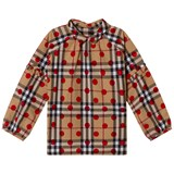 Burberry Beige Classic Check Blouse with Spot