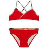 Burberry Red Bikini with Classic Check Trims