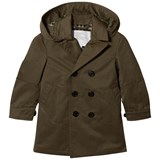 Burberry Olive Davey Hooded Coat