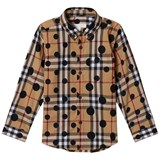 Burberry Beige New Classic Check Fred Shirt with Spot Print