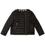 Burberry Black Gina Collarless Bomber Jacket