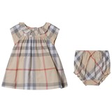 Burberry Pale Stone Check Emerald Dress