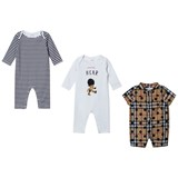 Burberry 3 Pack of Cotton Babygrows