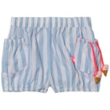 Billieblush Blue and White Stripe Shorts with Ice Cream Detail