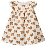 Moschino Cream All Over Bear Party Dress