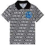 Moschino Black All Over Branded Polo
