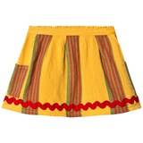 Bobo Choses Banana Yellow Striped Linen Pocket Skirt
