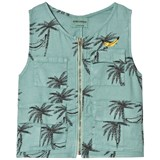 Bobo Choses Beryl Green Siesta Safari Linen Vest