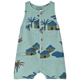 Bobo Choses Beryl Green Gombe Playsuit