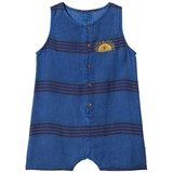 Bobo Choses Turkish Sea Stripes Linen Playsuit