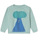 Bobo Choses Beryl Green Tree Raglan Sweatshirt