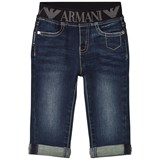 Armani Junior Dark Logo Denim Trousers