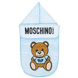 Moschino Blue All Over Branded Bear Nest