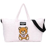 Moschino Pink All Over Branded Bear Changing Bag with Mat