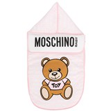 Moschino Pink All Over Branded Bear Nest
