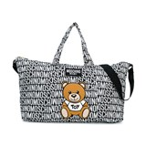 Moschino Black All Over Branded Bear Changing Bag with Mat