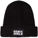 Little Remix Black Knitted Badge Hat