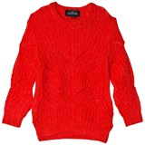 Little Remix Red Vicki Cable Sweater