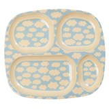 RICE A/S Cloud Print Melamine Divided Plate