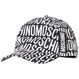 Moschino Black and White All Over Branded Cap