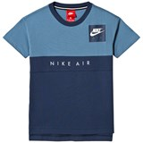 Nike Blue and Navy Short Sleeve Nike Air Tee