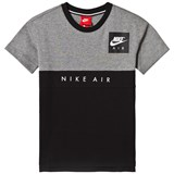 Nike Grey and Black Nike Short Sleeve Tee