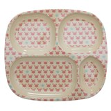RICE A/S Crabs and Starfish Print Divided Plate