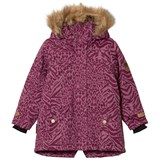 Ticket To Heaven Amaranth Purple Animal Print Detachable Hood Mary Jacket