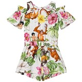 Monnalisa Jungle Book and Botanical Print Playsuit