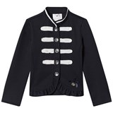 Le Chic Navy and White Military Jacket