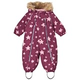 Ticket To Heaven Light Purple Stars Detachable Hood Parachute Baggie Snowsuit