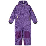 Ticket To Heaven Purple Pattern Ski Overall