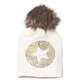 Ticket To Heaven White Knit Star Bobble Hat