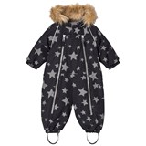 Ticket To Heaven Jet Black Stars Detachable Parachute Baggie Snowsuit