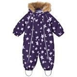 Ticket To Heaven Purple Stars Detachable Parachute Baggie Snowsuit
