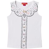 Kate Mack - Biscotti White Musical and Heart Print Vest Top