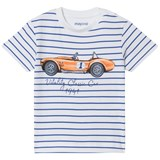 Mayoral Blue and White Classic Car Print Tee