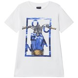 Mayoral White with Blue Motor Cycle Graphic Tee