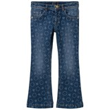 Young Versace Blue Bolli All Over Print Denim Flare Jeans