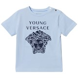 Young Versace Pale Blue Medusa Print Infants T-Shirt