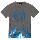 Young Versace Grey Wave Foil Branded T-Shirt