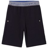 Young Versace Navy Branded Waist Sweat Shorts
