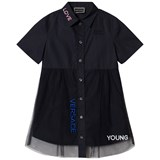 Young Versace Navy Love Branded Tu Dress